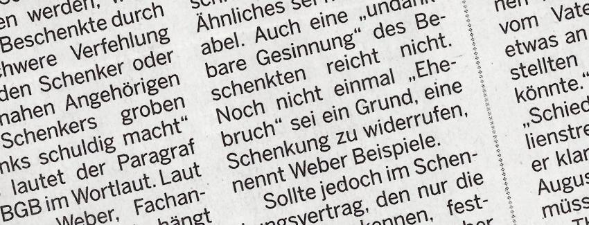 Was Heisst Grober Undank Dr Jur Weber